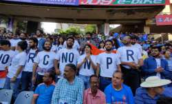 Spectators protest NRC and CAA during India-Australia ODI