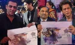 Salman, Shah Rukh Khan launch calendar of the real 'Dabanggs'