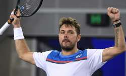 Switzerland's Stan Wawrinka celebrates after defeating