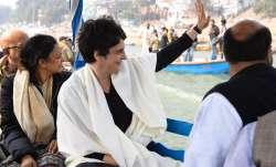 Priyanka Gandhi reaches Varanasi's ghat riding a steamer, leads CAA protest