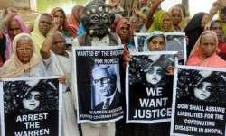 Bhopal gas victims protest against Trump visit