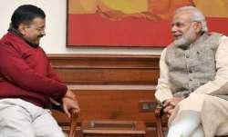 Arvind Kejriwal, PM Modi, swearing in, February 16