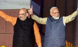 A file photo of PM Modi and Union Home Minister Amit Shah