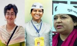 Atishi Marlena, Rakhi Birla and Bhavna Gaur