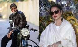 Rekha calls Amitabh Bachchan's photo 'danger zone' during Dabboo Ratnani calendar launch. Watch vide