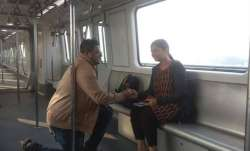 Man proposes to woman on newly-inaugurated Kolkata's East-West Metro on Valentine's Day