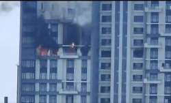 West Bengal: Massive fire at 16th floor of apartment in