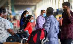 Passengers wear medical-masks as part of precautionary