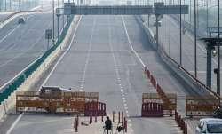 Barricades on the Delhi-Ghaziabad border after lockdown was