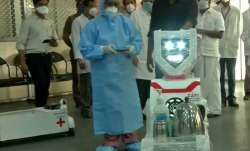 Robotic nurses serve food, medicines to coronavirus