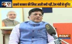 Railways Minister Piyush Goyal during an exclusive