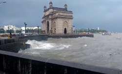 Mumbai rains, rainfall, heavy rains, IMD, rainbow, Gateway of India
