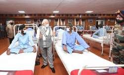 PM Modi speaks to the injured Indian Army jawans in Leh