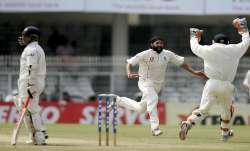 Monty Panesar after dismissing Sachin Tendulkar