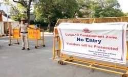 Coronavirus containment zones in Delhi