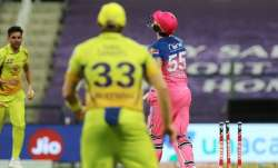 Live score Chennai Super Kings vs Rajasthan Royals IPL 2020: RR lose openers early in 126 chase