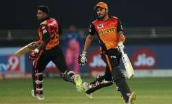Live Score Rajasthan Royals vs Sunrisers Hyderabad IPL 2020: Pandey, Shankar take charge in 155 chas