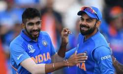 Jasprit Bumrah and Virat Kohli