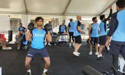 Indian team training ahead of Australia series