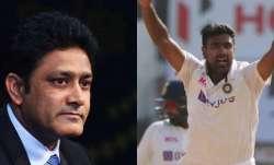 Anil Kumble and R Ashwin