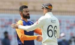Joe Root and Virat Kohli