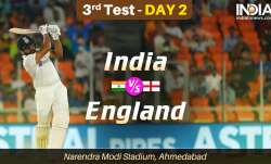 Live Score India vs England 3rd Test Day 2: Live Updates from Ahmedabad