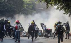 Myanmar coup, myanmar protests, myanmar news latest, myanmar coup news, myanmar tear gas,