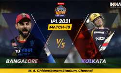 Live Score RCB vs KKR IPL 2021: Live Updates from Chennai