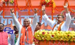 BJP leader Suvendu Adhikary during an election campaign