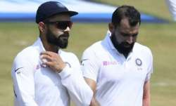 File photo of Virat Kohli (left) with Mohammed Shami.