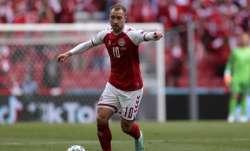 Denmark's Christian Eriksen controls the ball during the