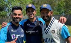 Virat Kohli, Shubman Gill and Cheteshwar Pujara