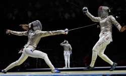 Manon Brunet of France against Bhavani Devi of India