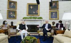 Prime Minister Narendra Modi's first in-person meeting with