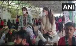 Shilpa Shetty prays at Mata Vaishno Devi after chargesheet filed against husband Raj Kundra in porn