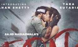 Tadap poster featuring Ahan Shetty, Tara Sutaria