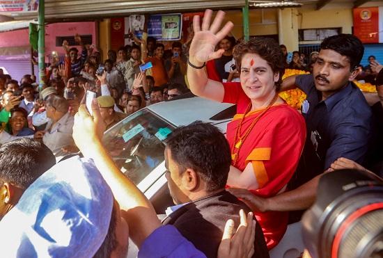 Priyanka Gandhi during her Ganga yatra