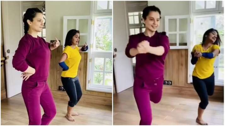 Kangana Ranaut brushes up Bharatnatyam skills for Jayalalithaa biopic at Manali residence. Watch vid